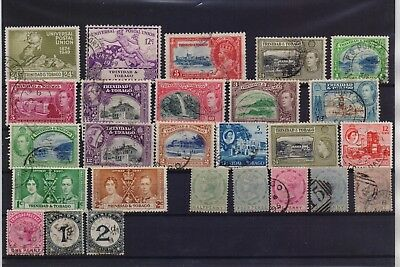 Trinidad & Tobago British Colony Collection Of 26 Different Used Stamps