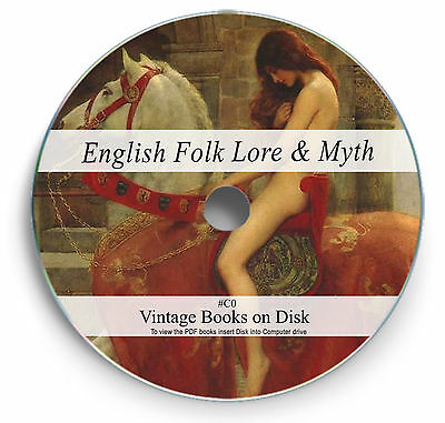130 Rare Books On DVD English Folk Lore Myth Legend Fairy Tales Superstition C0