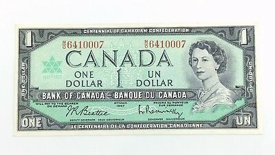 1967 Canada 1 One Dollar MO Prefix Canadian Circulated Currency Banknote I376
