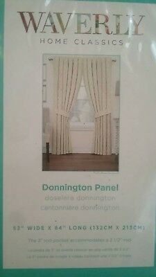 "New Lot Of 2 Pair of WAVERLY DONNINGTON PANEL Curtains LINEN 52""X84"" $59"
