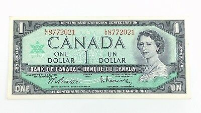 1967 Canada 1 One Dollar LO Prefix Canadian Circulated Currency Banknote I378