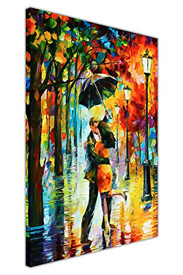 Abstract Dance Under The Rain By Leonid Afremov On Canvas Picture Wall Prints X