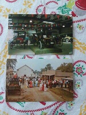 Vintage Midwest Old Settlers & Threshers Mt Pleasant Iowa Post Cards Lot Of 2