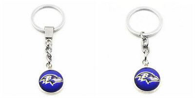 2pcs Baltimore Ravens NFL Football Team Sport Charms Fashion Keychains Gifts