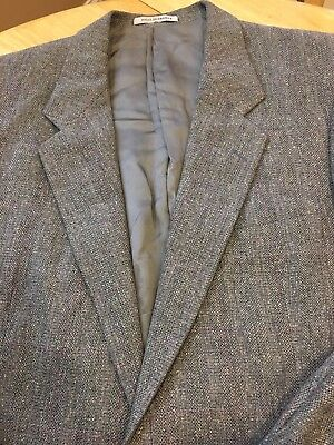 39/40R Mens YVES SAINT LAURENT Gray WOOL TWEED Vtg Suit Jacket Blazer Sportcoat