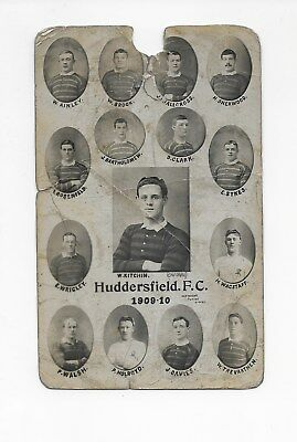 1909/10 Huddersfield Rugby League Club Turton Postcard England