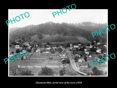 OLD LARGE HISTORIC PHOTO OF GLENMONT OHIO, PANORAMIC VIEW OF THE TOWN c1920