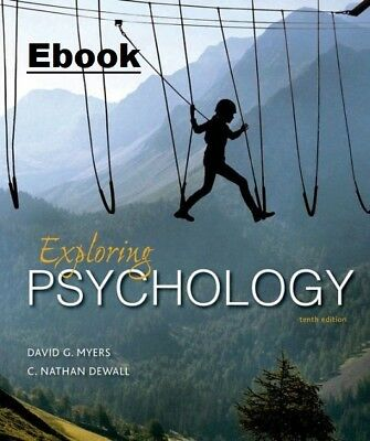 Exploring Psychology - David G Myers, Nathan DeWall 10th - Instant Delivery PDF