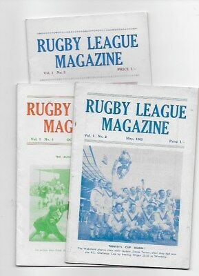 Collection Rugby League Magazines 1963 England Wales Australia Halifax Wakefield