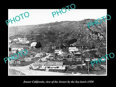OLD LARGE HISTORIC PHOTO OF JENNER CALIFORNIA, THE JENNER BY THE SEA HOTEL c1920