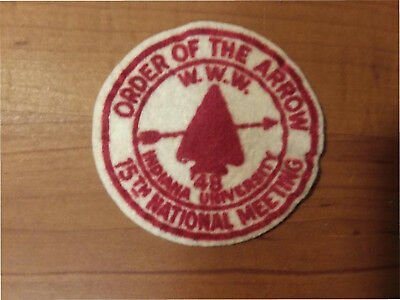 Order of the Arrow - 15th National Meeting - 1948 - felt patch.