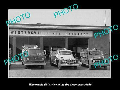 Old Large Historic Photo Of Wintersville Idaho, The Fire Department Station 1950