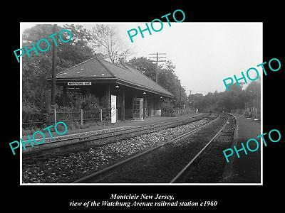 OLD LARGE HISTORIC PHOTO OF MONTCLAIR NEW JERSEY, THE WA RAILROAD DEPOT c1960