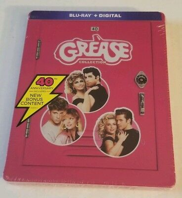 Blu-ray + Digital Grease Collection Steelbook Sealed Grease Grease 2 Grease Live