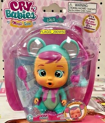 """CRY BABIES Magic Tears LALA 6"""" Articulated Doll Bottle Pacifier Lollipop Mouse"""
