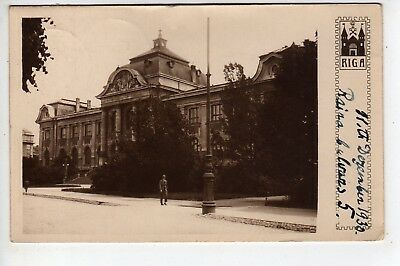 1930 Riga Latvia RPPC, Message: Influenza, Stamps, Sent To Brooklyn New York USA