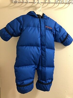 95024ef37 Columbia Infant Size 3-6 Months Blue Lined Ski Bowl Bunting Onepiece Snow  Suit