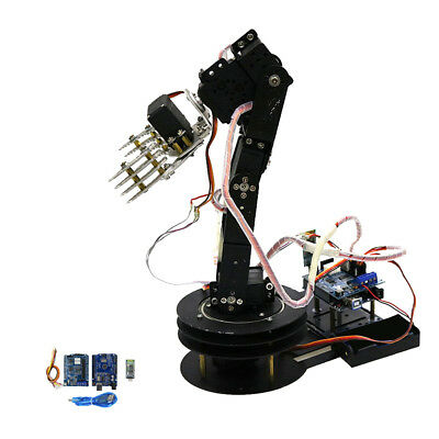 5 Axis Assembled Mechanical Robotic Arm Clamp Claw For Arduino Raspberry Pi