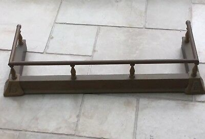 vintage,small,brass,fire fender Kerb  29 X11 Inches X. 5.5inches Height Fire