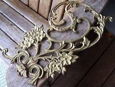 Antique Architectural Iron Salvage Pediment Aesthetic Vintage Victorian Bird 17""