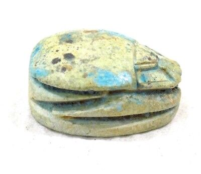 "Rare Ancient Egypt Egyptian antique Scarab Date Unkown 3/4"" Long,"