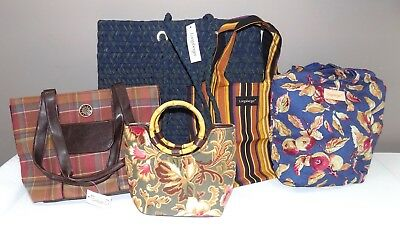 Lot of 5 Longaberger Totes - CC Lg Woven Tote, Grocery Totes, Sisters Tote, More