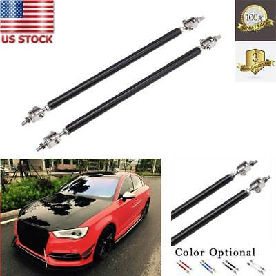 2x150mm Adjustable Front Bumper Lip Splitter Strut Rod Tie Support Bar For Ford