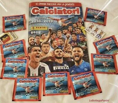 Lotto 360 figurine stickers tutte diverse CALCIATORI PANINI 2018-2019