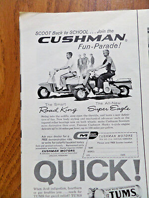 1959 Cushman Ad Road King & All new Super Eagle