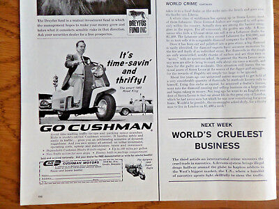 1960 Cushman Road King & Super Eagle Motorcycle Ad