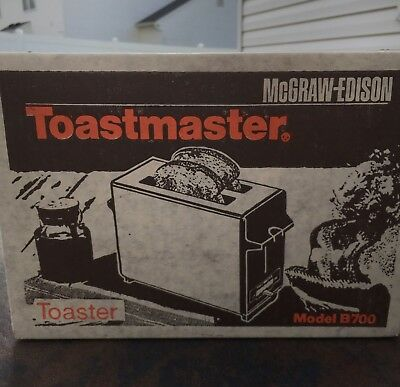 Vintage Chrome Toastmaster Pop-Up Toaster Model B700 ***FACTORY SEALED****