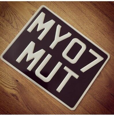 MUTT Motorcycle style cherished number plates