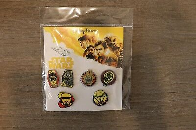Disney Parks Trading Pin Booster Pack Of 6 Han Solo A Star Wars Story Pins New