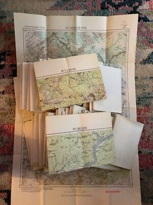 LOT 66 1950s Austria GERMANY Europe TOPOGRAPHY TOPO TOPOLOGY MAP