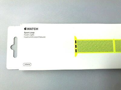 New 38mm 40mm FLASH LIGHT Apple Watch Sport Loop band - Neon Nylon Genuine OEM