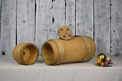 Antique wooden butter churn / Primitive country tool / Old wooden vessel / Decor