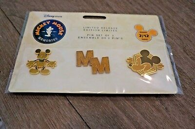 Disney Store Exclusive Mickey Mouse Memories Pin Set - February