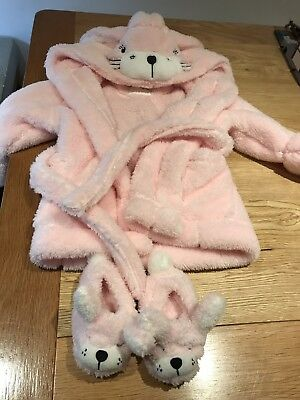 Next Under The Stars 12-18 Months Bunny Dressing gown & Slippers
