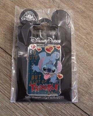 Disney Park Pin Stitch So Cute But A Lot Of Trouble 626 New On Card Open Edition
