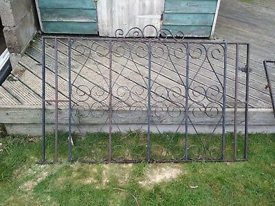 Pair Of Wrought Iron Gates And Foot Gate