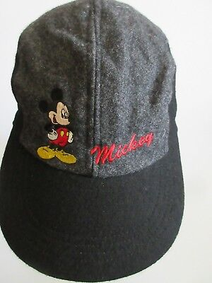 ddf10d464cc Mickey Unlimited Mickey Mouse Embroidered Base Ball Cap Black Gray Wool  Rayon