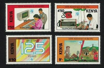 Kenya 125th Anniversary of ITU 4v MNH SG#541-544 FREE UK POSTAGE