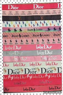 NEW!! Designer Fashion Polo Ribbon Dummy Plastic Clip Baby Boys Girls Dior