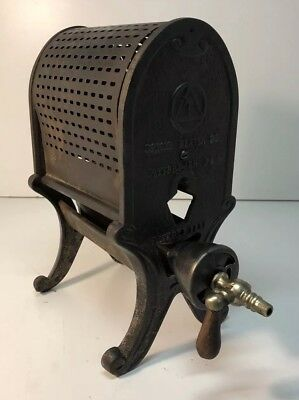 "Antique Vintage 1920's Tobias Heater Co. Radiant Gas Heater Cast-Iron 12"" Tall"