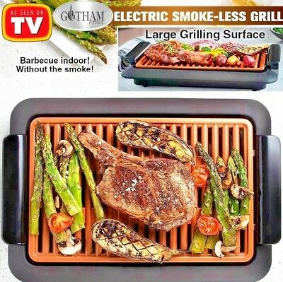 Gotham Steel Electric Smoke Less Grill Indoor BBQ Nonstick As Seen On TV Safe
