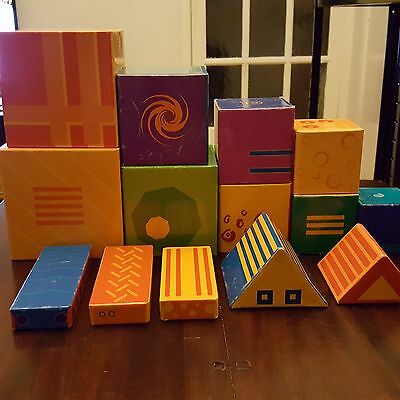 Classic French Djeco 14 stacking cubes - Rare in the UK