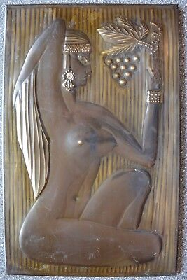 Russian hammered BAS RELEIF plaque COPPER Embossed Nude Female Beauty Naked Girl