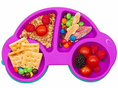 Toddler Plates Portable Baby Plates for Toddlers BPA-Free FDA Approved Toddler