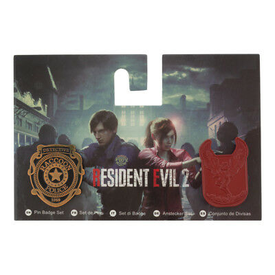 Resident Evil 2: 2 Pin Badge Set official RE 2 merchandise by Numskull PREORDER!