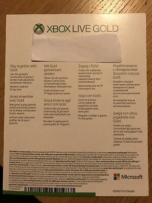 Xbox Live 14 Day Gold Trial Membership Code sent thru mailing